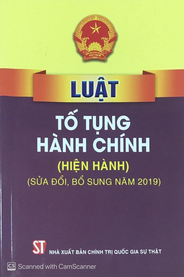 Luật Tố tụng hành chính (hiện hành) (sửa đổi, bổ sung năm 2019)