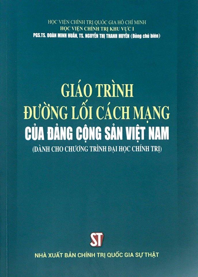 Giáo trình Đường lối cách mạng của Đảng Cộng sản Việt Nam (Dành cho Chương trình Đại học chính trị)