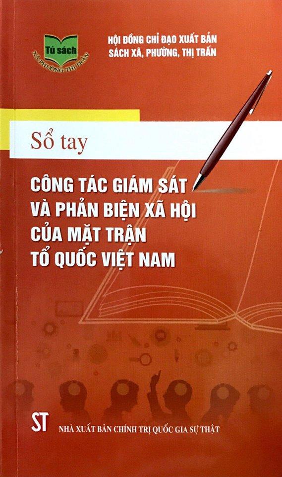 Sổ tay công tác giám sát và phản biện xã hội của Mặt trận Tổ quốc Việt Nam