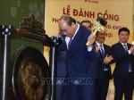 Thủ tướng Nguyễn Xuân Phúc đánh cồng khai trương phiên giao dịch chứng khoán đầu Xuân Kỷ Hợi 2019