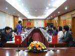 Hội đàm với Đoàn đại biểu Cục Sự nghiệp Xuất bản - Phát hành Ngoại văn, Trung Quốc