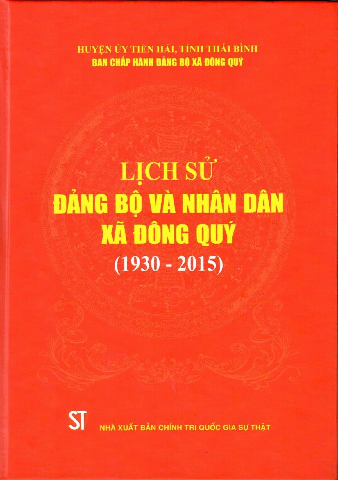 Lịch sử Đảng bộ nhân dân xã Đông Quý (1930 - 2015)