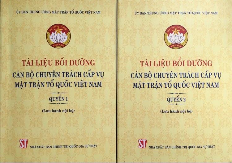 Tài liệu bồi dưỡng cán bộ chuyên trách cấp Vụ Mặt trận Tổ quốc Việt Nam (Lưu hành nội bộ)