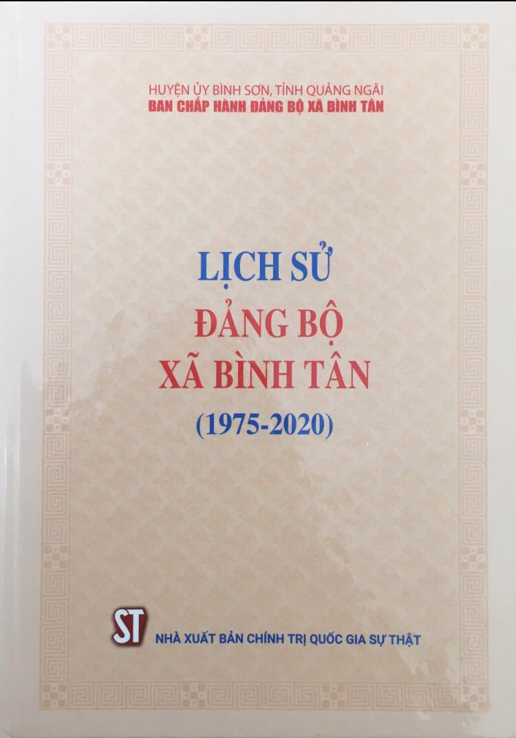 Lịch sử đảng bộ xã Bình Tân (1975-2020)