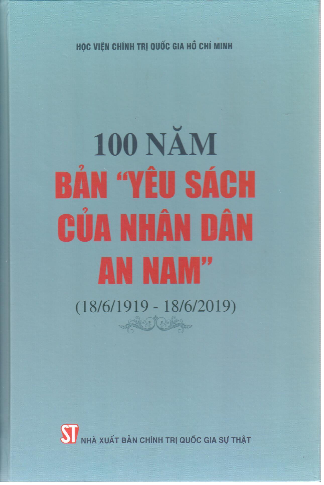 """100 năm bản """"Yêu sách của nhân dân An Nam"""" (18/6/1919 - 18/6/2019)"""