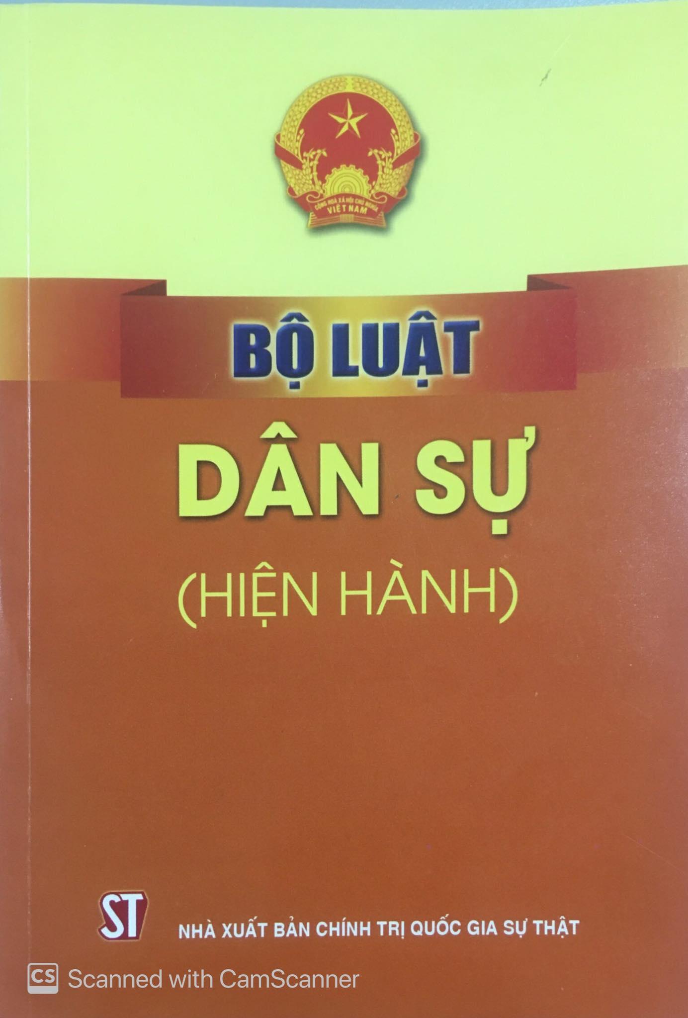 Bộ luật Dân sự (hiện hành)