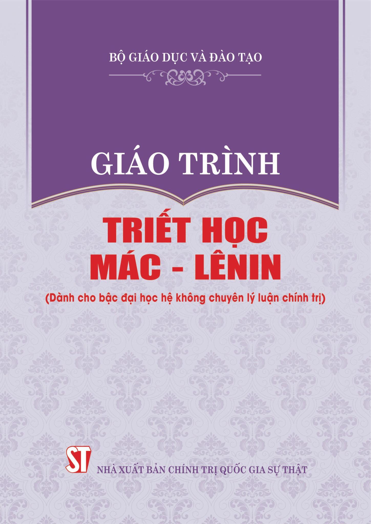 Giáo trình Triết học Mác - Lênin (Dành cho bậc đại học hệ không chuyên lý luận chính trị)