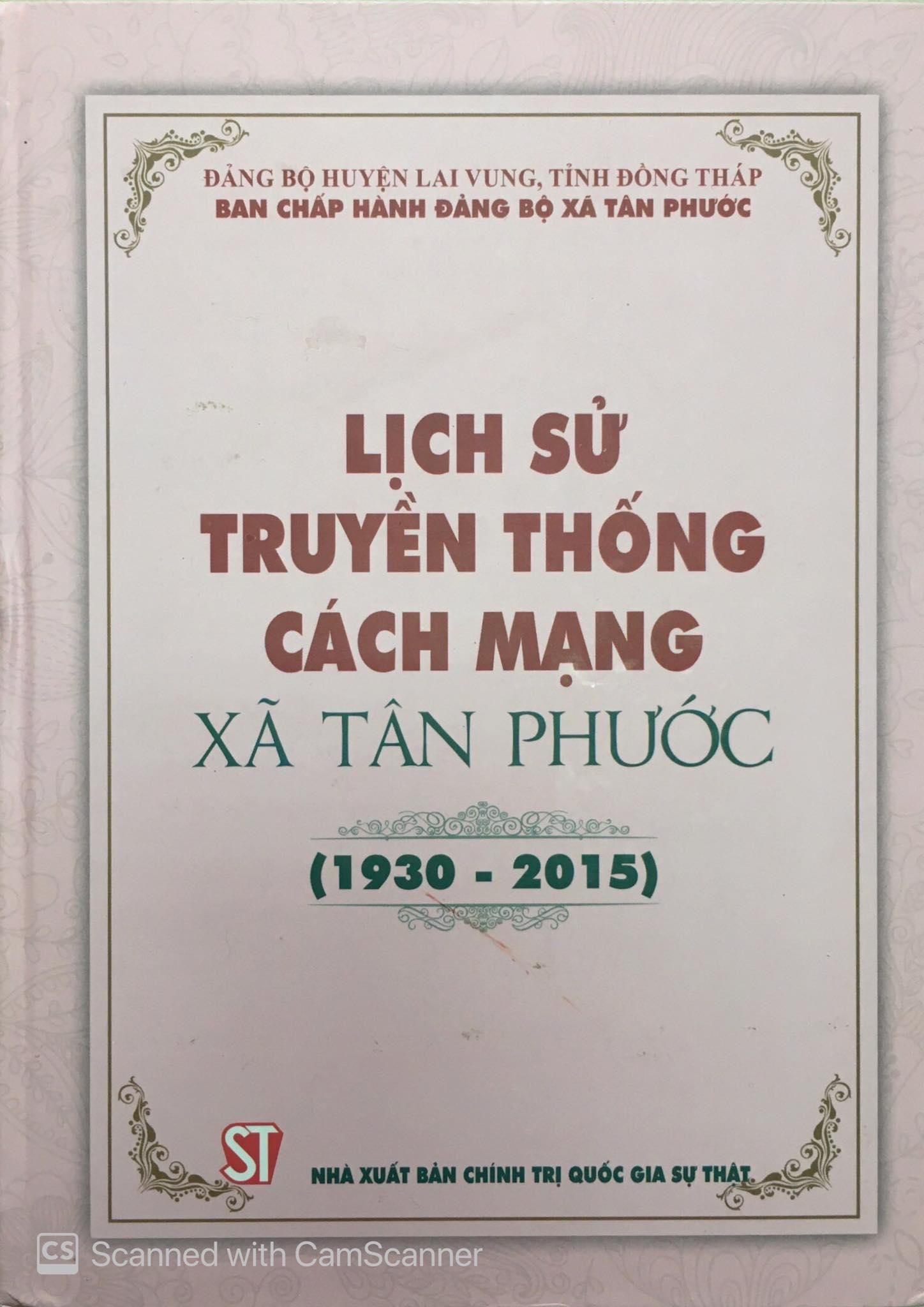Lịch sử truyền thống cách mạng xã Tân Phước (1930 - 2015)