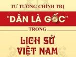 """Tư tưởng chính trị """"Dân là gốc"""" trong lịch sử Việt Nam"""